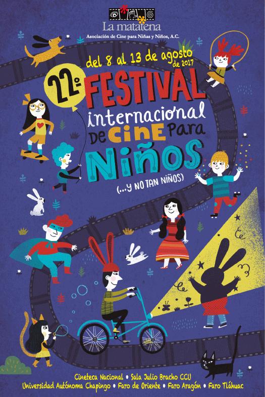 cartel del festival de cine para nios y no