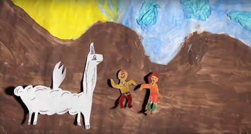 Imagen de La llamita y los niños