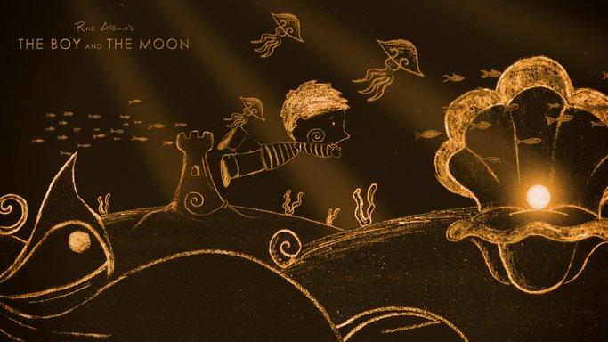 Imagen de El niño y la luna