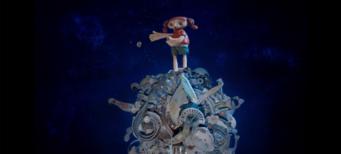 Imagen de Ailín en la luna